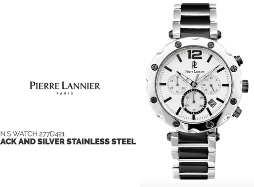 Pierre Lannier: Men's Chrongraph 277D421 Polished Finish Meets High Performance