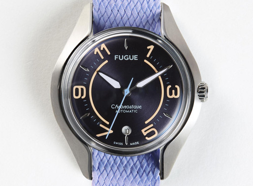 Fugue: Chronostase Vintage Navy Steel Blue Perlon The perfect package of archetypal modularity-match