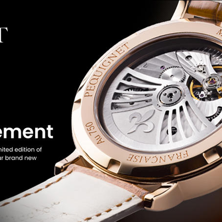 Pequignet: Attitude 9061325 CG Gold limited edition available for pre-order. New in-house movement