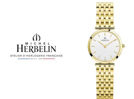 Michel Herbelin: Extra Flat Bracelet Watch.17116/BP11