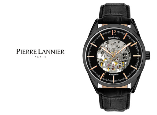 Pierre Lannier: Men's Black Automatic 310C433 Timeless charm, exceptional accuracy, paired with