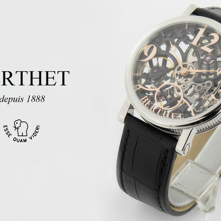 Berthet: ARTE Two-Tone Black Skeleton Mechanical -Transparent Sophistication