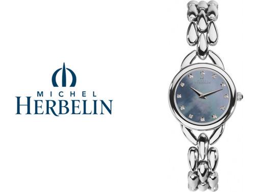 Michel Herbelin: Womens Stainless Steel Bracelet Watch - 17475/B08