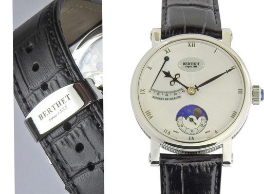 Berthet: Noctem white (rm &moon) Perfectly Polished Style, Embracing Perfectly Appointed Movement