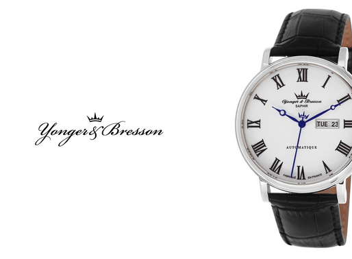 Yonger & Bresson: Silver Beaumesnil Men's Automatic Stylishly Striking Timepiece