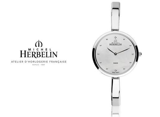 Michel Herbelin: Scandinave  An elegant, timeless watch that looks more like a beautiful piece of je