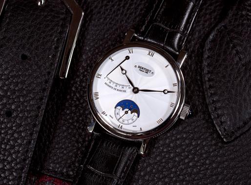 Berthet: Datum Black Men's Mechanical Watch Achingly beautiful, high-end mechanical design excel