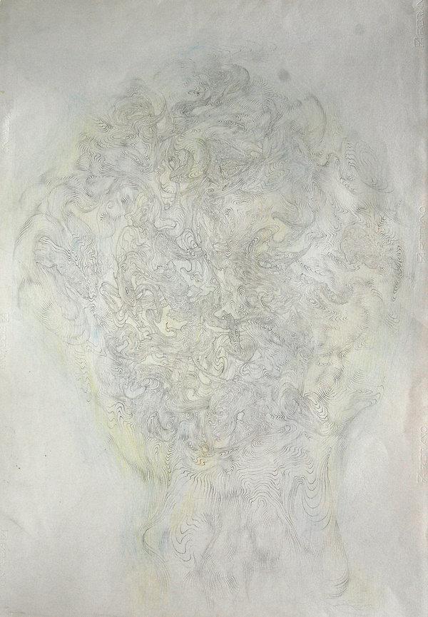 norman shaw, artist, drawing, druid wood head, correlationism, speculative realism, graham harman, thomas ligotti, eugene thacker