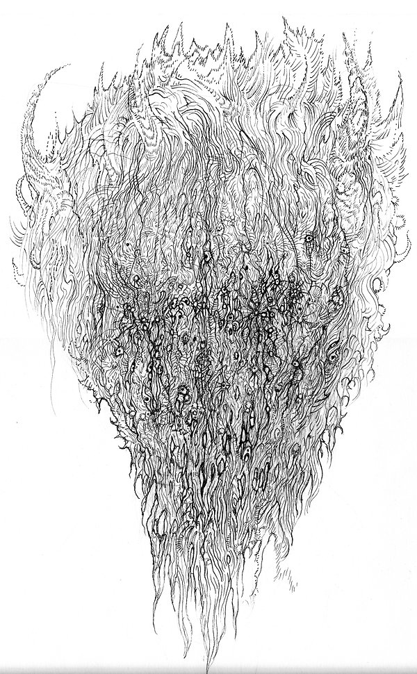 norman shaw, art, drawing, hp lovecraft, speculative realism, graham harman, consciousness, demon