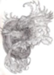 Norman Shaw, artist, drawing, Fairy, Faery, Sidhe, Celtic, Gaelic, Otherworld, liminal, Austin Osman Spare, William Blake, surrealist automatic drawing,WY Evans-Wentz, Robert Kirk, liminal, mystical