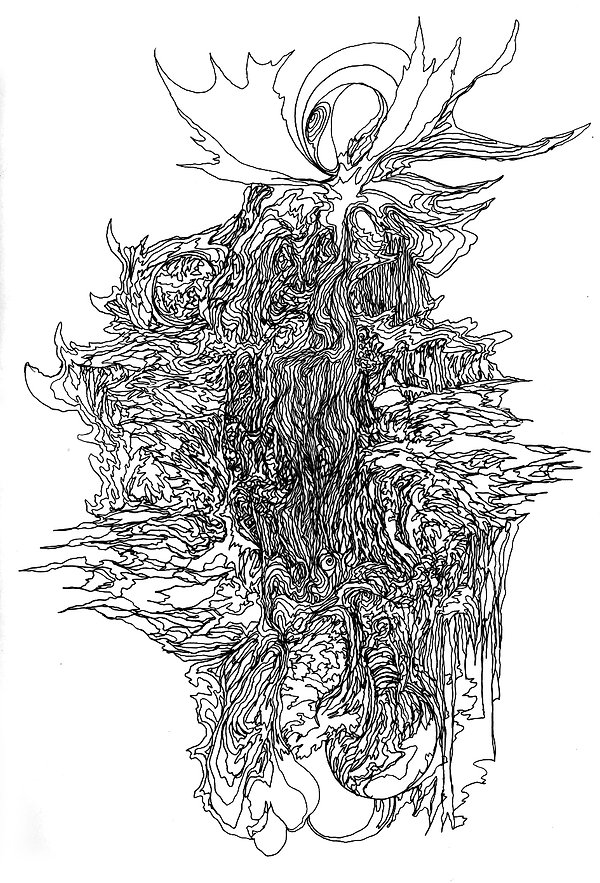 Norman Shaw, artist, drawing, Fairy, Faery, Sidhe, Celtic, Gaelic, Otherworld, liminal, Austin Osman Spare, William Blake, surrealist automatic drawing,WY Evans-Wentz, Robert Kirk, liminal, mystical