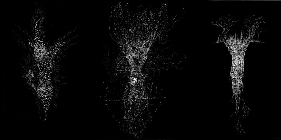 Norman Shaw, artist, drawing, celtic, gaelic, otheworld, fairy, faery, visionary, hallucinatory, Austin Osman Spare