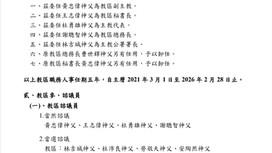 高雄教區2021年1月人事公告