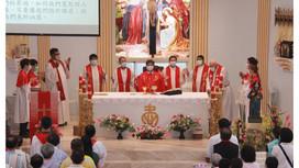 慶祝高雄教區成立六十周年左營聖女小德蘭堂舉行朝聖彌撒