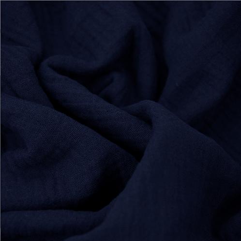 Musselintuch // dunkelblau