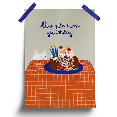 Postkarte // alles Gute zum Geburtstag
