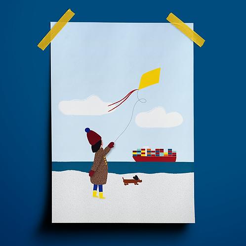 Postkarte // Frische Brise