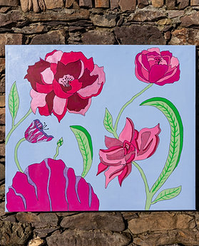 Blue Spring 70 x 80cm
