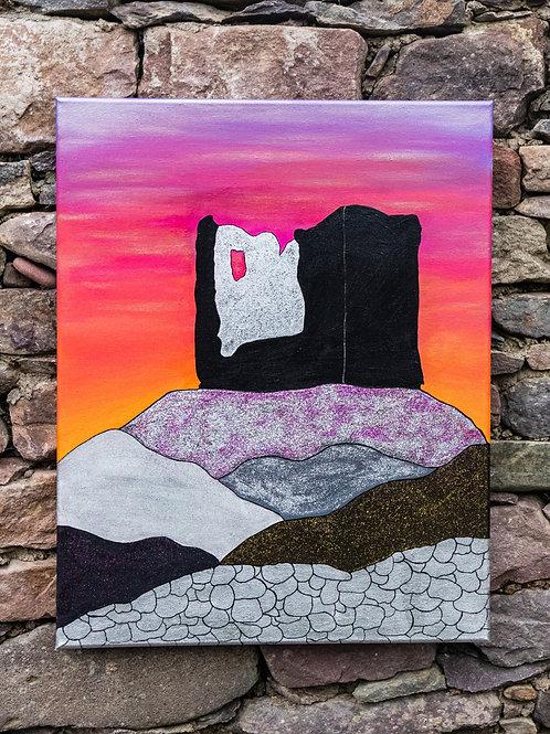 Minard Castle Sunset 40 x 50cm