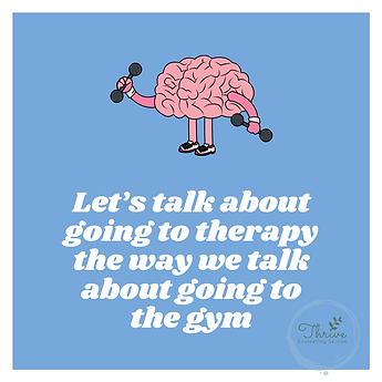 Lets talk about therapy the way we talk