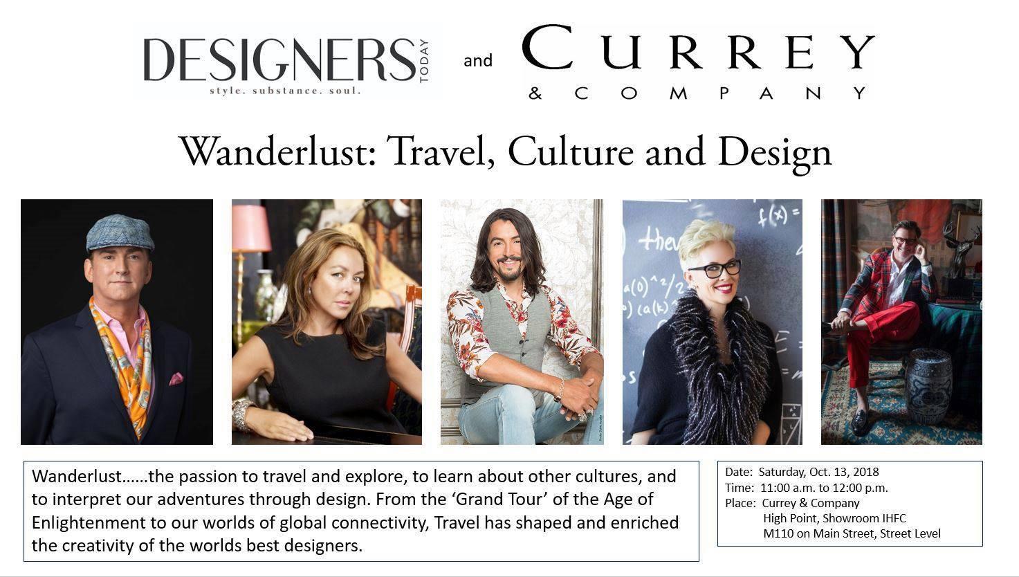 WANDERLUST: Travel, Culture and Design