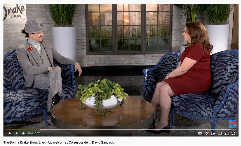 The Donna Drake Show, Live it Up welcomes Correspondent, David Santiago (3/2019)