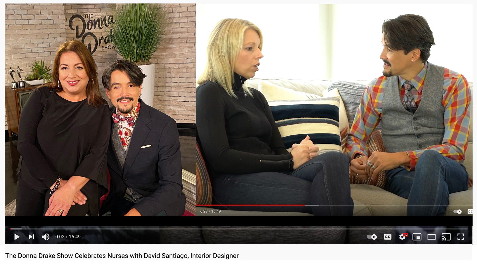 Happy Holidays from Donna Drake and David Santiago | Design & Lifestyle Correspondent for The Donna Drake Show TV