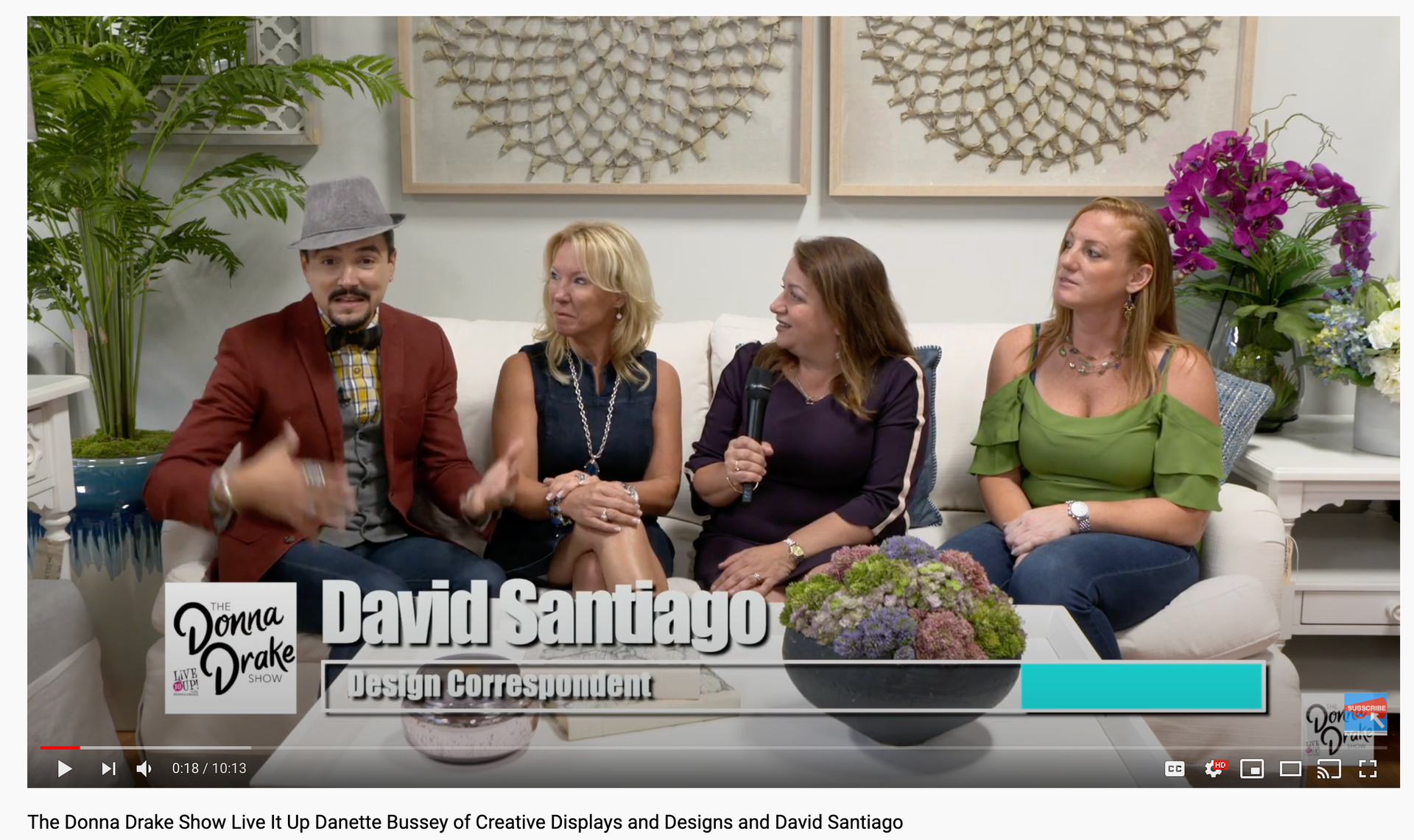 The Donna Drake Show Live It Up Danette Bussey of Creative Displays and Designs and David Santiago