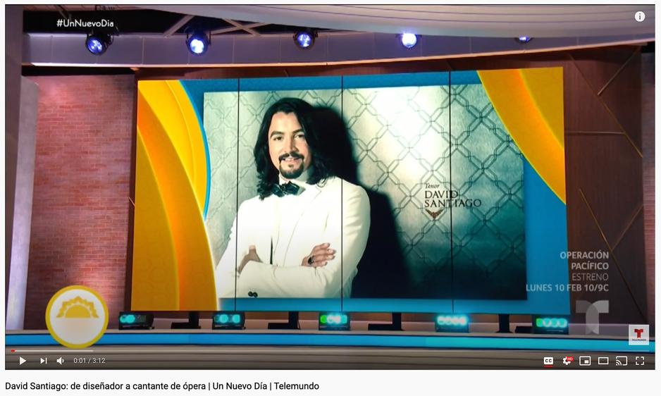 David Santiago: de diseñador a cantante de ópera | Un Nuevo Día | Telemundo