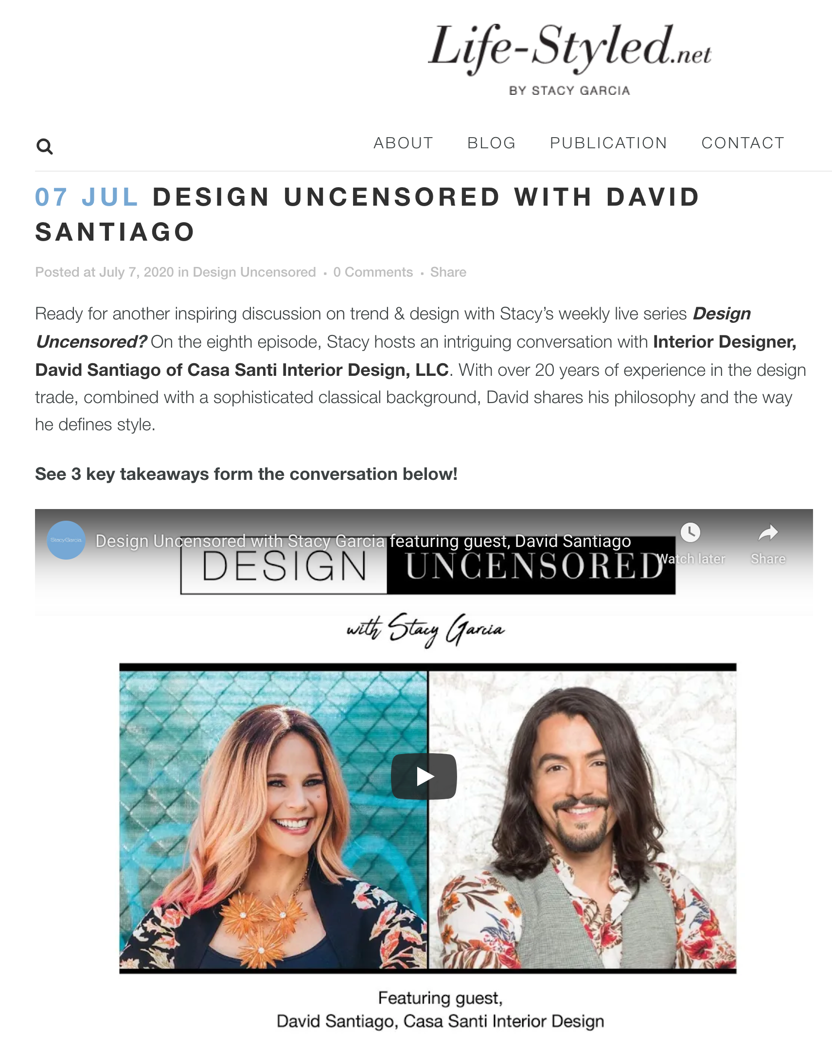 Life-styled - Stacy Garcia | Design Uncensored with David Santiago