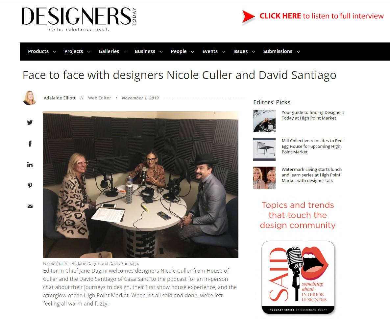 Designers Today - October 2019