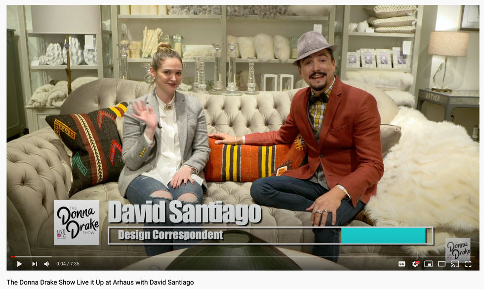 The Donna Drake Show Live it Up at Arhaus with David Santiago