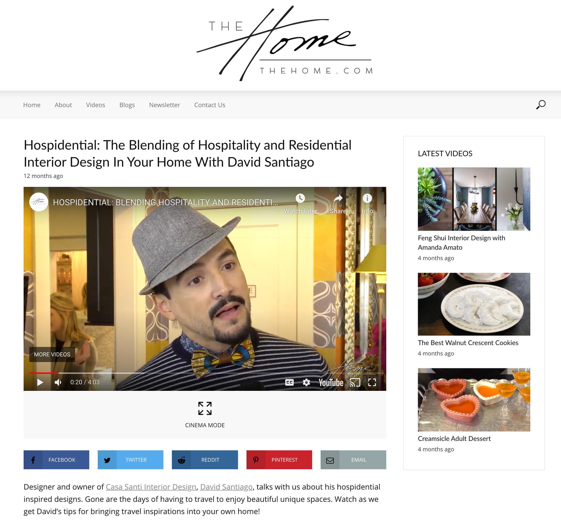 HOSPIDENTIAL: TheHome.com interviews David Santiago