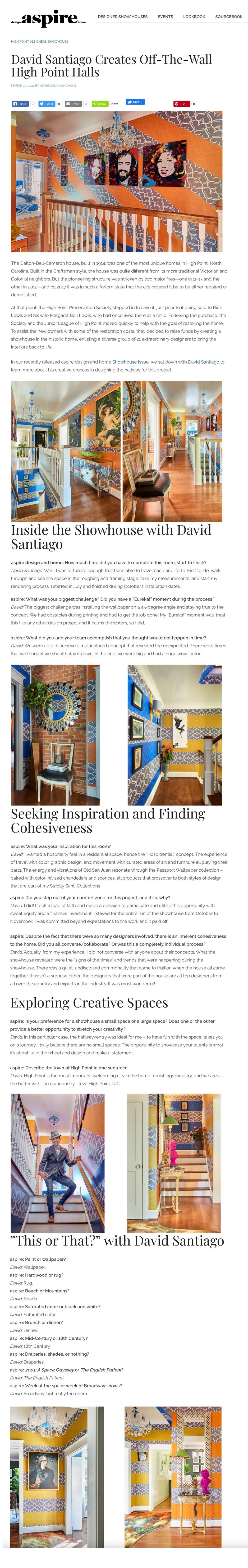 Aspire Showhouse Magazine Q & A