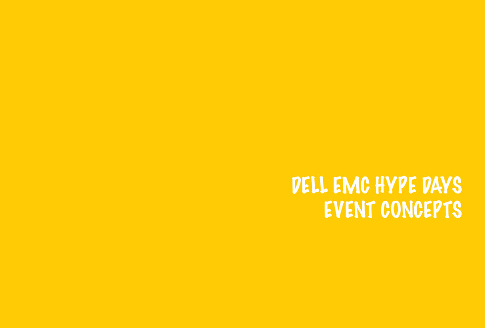 Dell EMC Hype Days Concepts