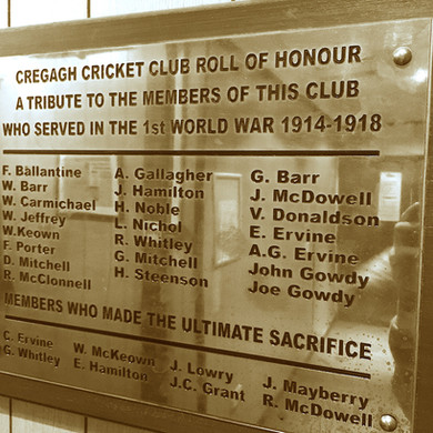 Cregagh Cricket Club: A Living Breathing War Memorial