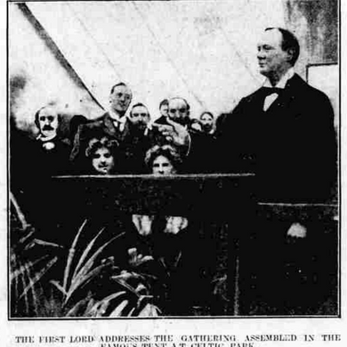 Churchill In Belfast, 1912