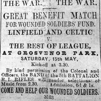 Linfield and Belfast Celtic: The Great War Benefit Match