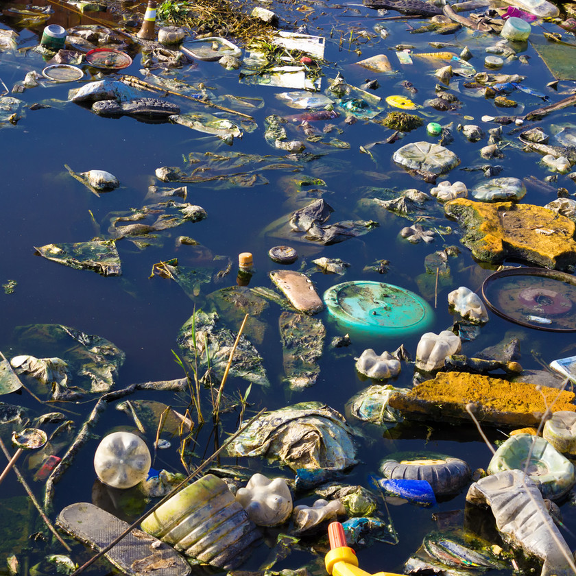 River pollution image