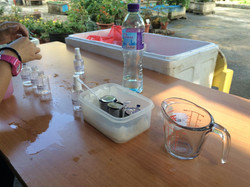 長洲婦女會攤位製作天然蚊怕水