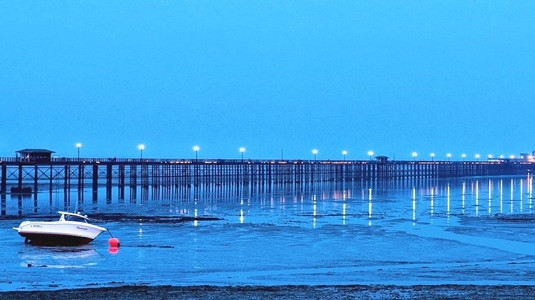 Pier At Evening