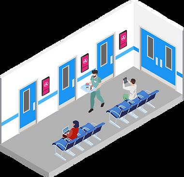 Рекламные проекторы в медицинском центре