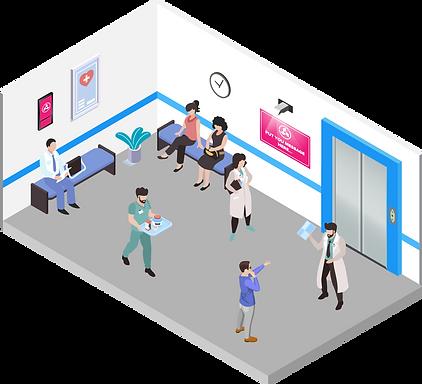 Рекламные экраны и мониторы в медицинских центрах