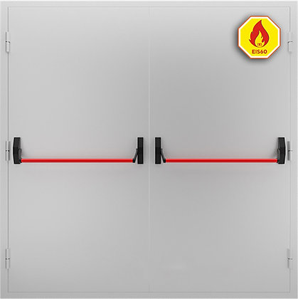 "Дверь ДМП-02 EIS-60 ""ПУШ БАР"" от 2410х1600 до 2520x1760 мм."