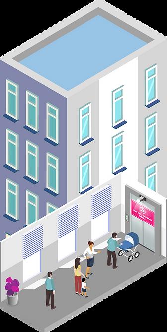 Цифровая реклама в лифтах жилого дома