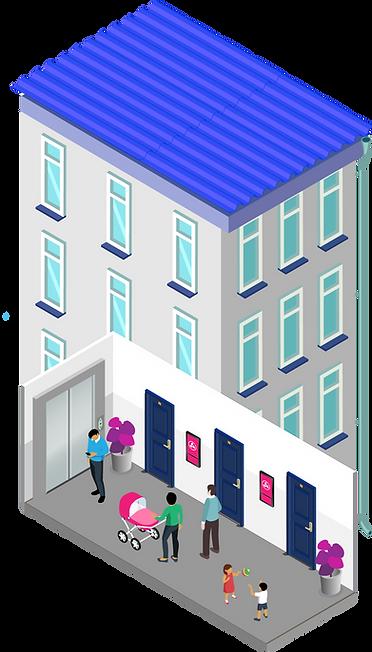 Рекламный экран в жилом доме