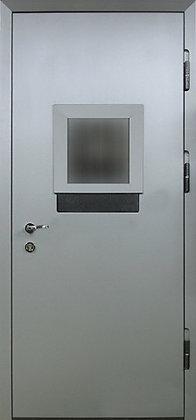 Дверь техническая стальная с кассовым окном