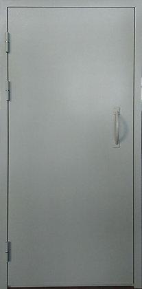 Дверь техническая с приварной ручкой - скобой.