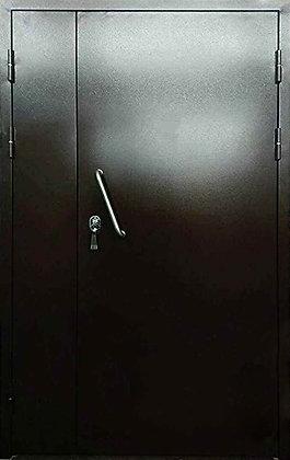 Дверь техническая двупольная ручка скоба.