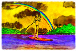 Surf Art by Brent February #25